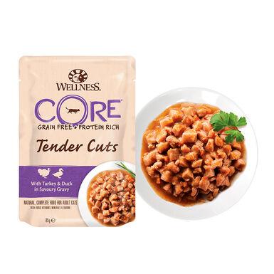 Pack 24 Saquetas Wellness Core Feline Tender Cuts 85 gr