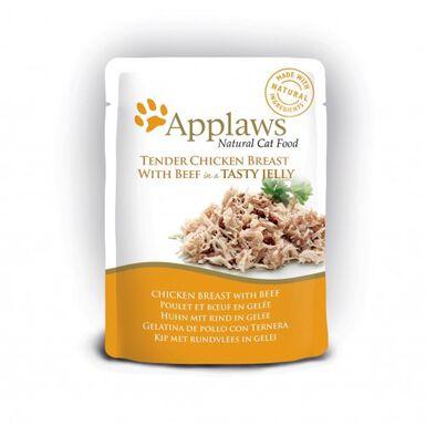 Applaws comida húmeda pollo y ternera para gatos