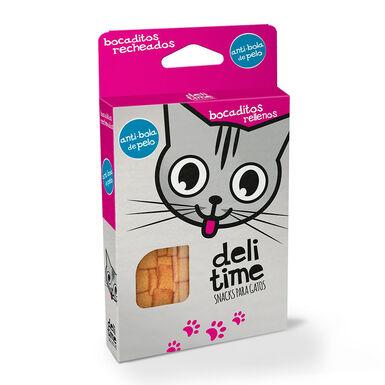 Snacks Delitime Pedacinhos recheados para gato 70 g