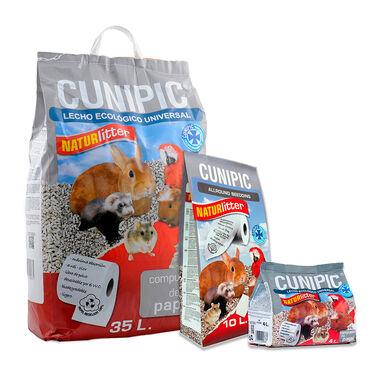 Leito para aves e roedores Naturlitter papel Cunipic
