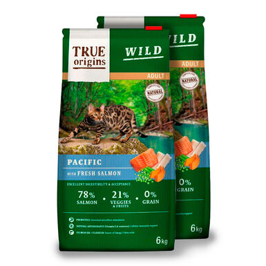 True Origins Wild Cat Adult Pacific - 2x6 kg Pack Poupança