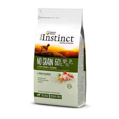 True Instinct No Grain Medium/Maxi Adult com frango vários formatos