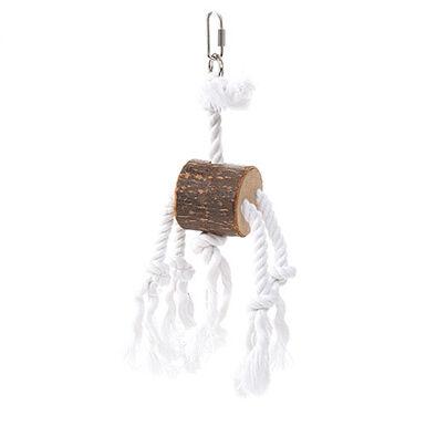 Flamingo juguete de madera y cuerda para loros