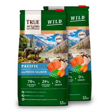 True Origins Wild Dog Pacific Adult - 2x12kg Pack Poupança