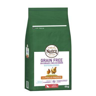 Nutro Grain Free para gatos esterilizados sabor frango
