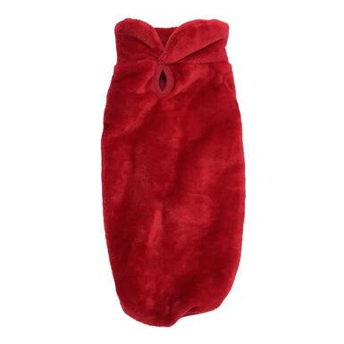 Camisola vermelha efeito veludo da Outech para cães