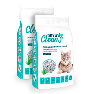 Areia Aglomerante Nova Clean Ultra 10 L para gato - 2x10 L Pack Poupança