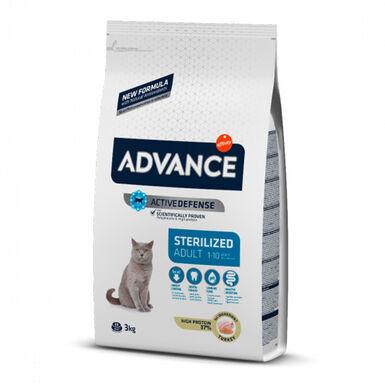 Advance Feline Sterilized peru e cevada vários formatos