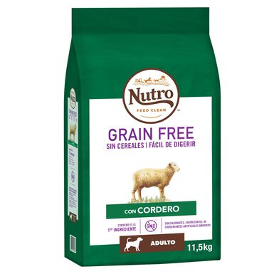 Nutro Grain free adulto cães de porte mediano cordeiro 14,5 kg