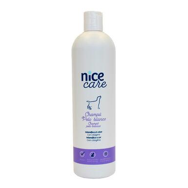 Champô Nice Care vários formatos para cães com pêlo branco