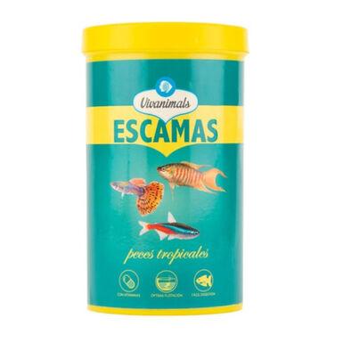 Vivanimals comida em lascas para peixes tropicais