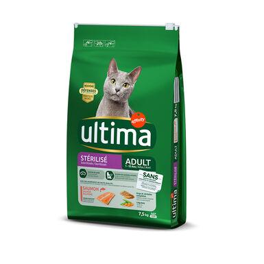 Ultima Feline Adult Sterilized salmão e cevada ração para gato