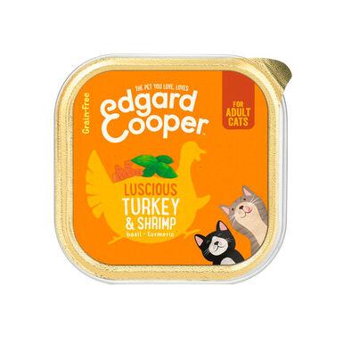 Tarrina Edgard & Cooper pato y gambas para gato 85 gr