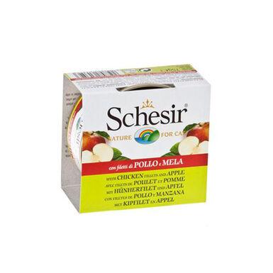 Pack 14 Latas Schesir alimento húmido superpremium com frutas para gatos 75 gr