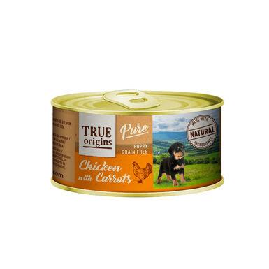 Pack 12 Latas True Origins Pure puppy pollo 185 gr