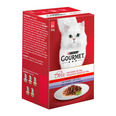 Gourmet Mon Petit vários sabores 6 x 50 g