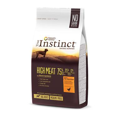 True Instinct High Meat Medium/Maxi Adult com frango e aves