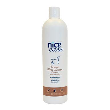 Champô Nice Care vários formatos para cães com pêlo castanho