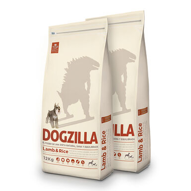 Dogzilla Adult borrego e arroz - 2x12 kg Pack Poupança