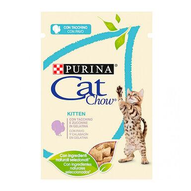 Comida húmida para gato júnior Cat Chow com perú 85 gr
