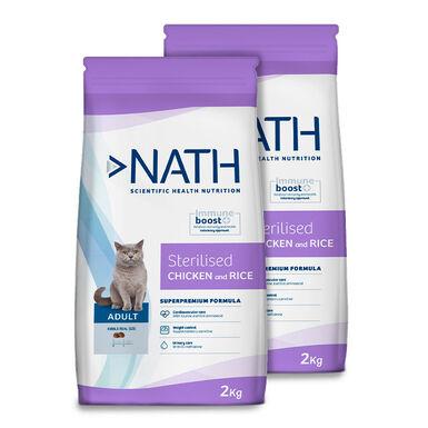 Pienso para gatos Nath Cat Adult Sterilized - 2 x 2 kg
