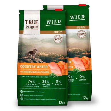 True Origins Wild Country Water Puppy Ração para Cão - 2x12Kg Pack Popuança