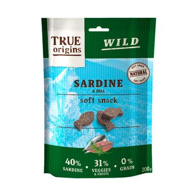 Snacks True Origins Sardina y Eneldo para perro 200 gr