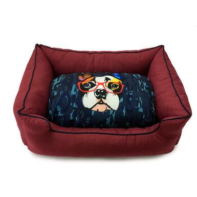 Cama Dogzzz Color Block Burgungy Bulldog