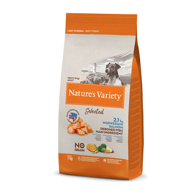 Nature's Variety Selected Mini Adult Salmón Sin Cereales
