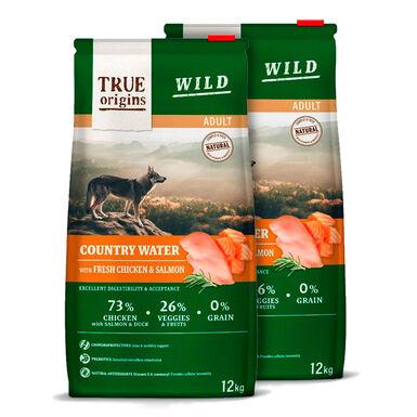 True Origins Wild Country Water Adult Ração para Cão - 2x12kg Pack Poupança