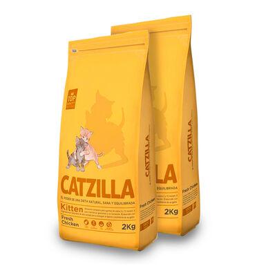 Catzilla Kitten frango - 2x6 kg Pack Poupançq