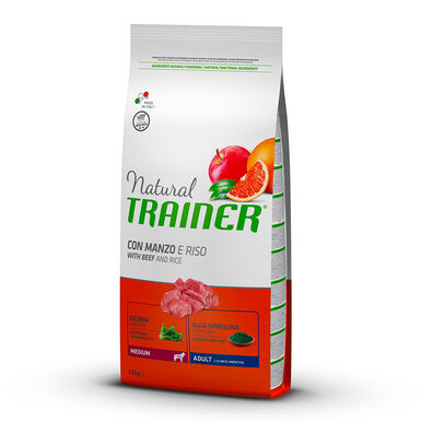 Natural Trainer Adult Medium vitela, arroz e ginseng