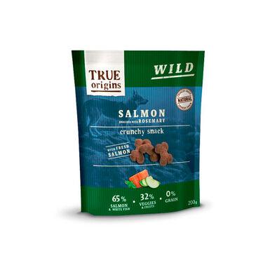 Snacks True Origins Salmão e Alecrim para cães 200 g