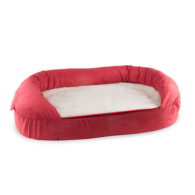 TK-Pet cama ortopédica ovalada color burdeos