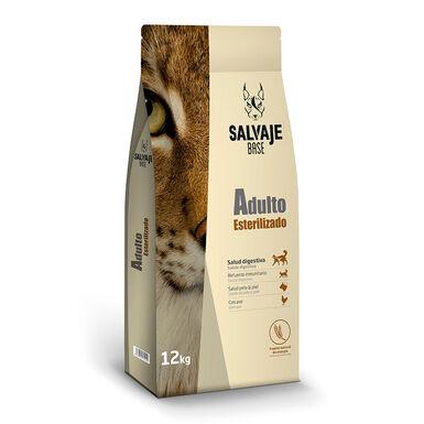 Salvaje Base Esterilizado pienso para gatos 12kg
