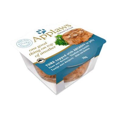 Pack 12 Terrinas Applaws em gelatina para gato Atum e Gambas 70 gr