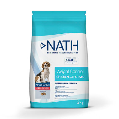 Nath Grain Free Medium/Maxi Adult Weight Control Ração para Cão