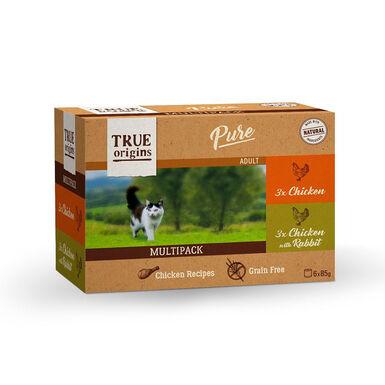 True Origins Pure Feline Multipack Carnes 6 x 85 gr