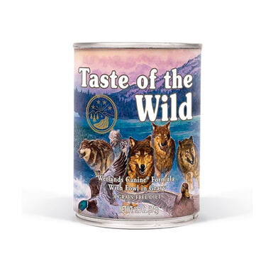 Lata Taste of the Wild Wetlands Canine Formula 374 gr