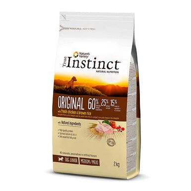 True Instinct Original Medium/Maxi Junior com frango e arroz integral