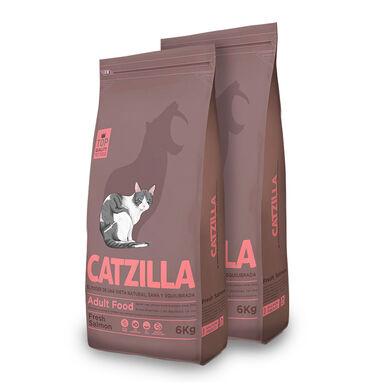 Catzilla Feline Adult salmão - 2x6kg Pack Poupança