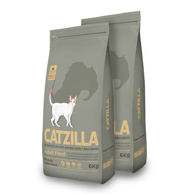 Catzilla Feline Adult pollo - 2x6 kg Pack Ahorro