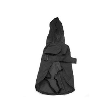 Impermeable negro Kiwoko para perros 30 cm