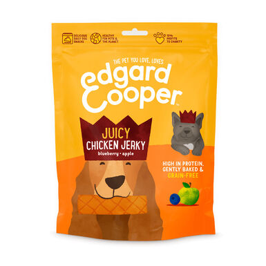 Edgard & Cooper Juicy Jerky Snack para cães 150 gr