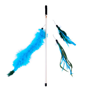 Juguete Feather Wand azul The Cat Band para gato