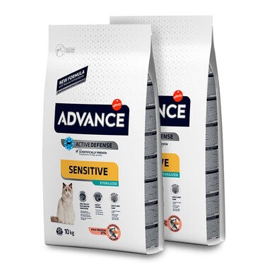 Affinity Advance Feline Sterilized Sensitive salmão e cevada - 2x10 kg Pack Poupança