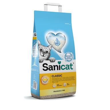 Sanicat Classic não aglomerante 10L areia para gato