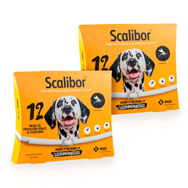 Scalibor coleira desparasitante para cães 2x65cm Pack Poupança