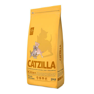Catzilla Kitten frango - 2x2 kg Pack Poupança