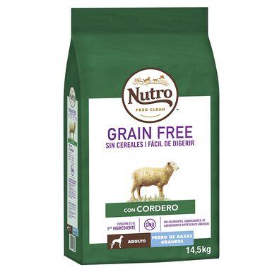 Nutro Grain Free Adultos raças de Grande Porte sabor cordeiro 14,5 kg
